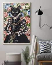 Floral Royal black cat 11x17 Poster lifestyle-poster-1