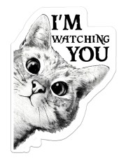I'm watching you Sticker - Single (Vertical) front