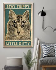 Stay trippy little kitty 11x17 Poster lifestyle-poster-1
