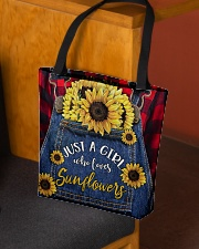 Just a girl who loves Sunflowers All-over Tote aos-all-over-tote-lifestyle-front-02