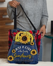 Just a girl who loves Sunflowers All-over Tote aos-all-over-tote-lifestyle-front-10