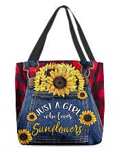 Just a girl who loves Sunflowers All-over Tote back