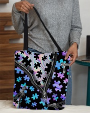 Puzzles holo All-over Tote aos-all-over-tote-lifestyle-front-10