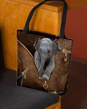 Elephant peeking All-over Tote aos-all-over-tote-lifestyle-front-02