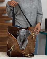Elephant peeking All-over Tote aos-all-over-tote-lifestyle-front-10
