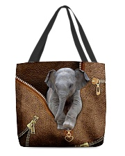 Elephant peeking All-over Tote back