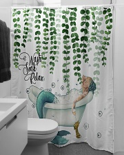 Wash soak relax Shower Curtain aos-shower-curtains-71x74-lifestyle-front-04