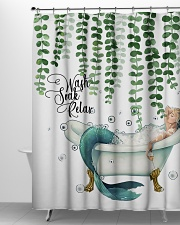 Wash soak relax Shower Curtain aos-shower-curtains-71x74-lifestyle-front-06