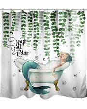 Wash soak relax Shower Curtain front