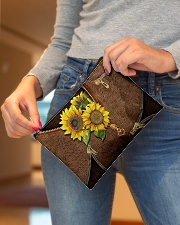 Sunflower pouch Accessory Pouch - Standard aos-accessory-pouch-8-5x6-lifestyle-front-04