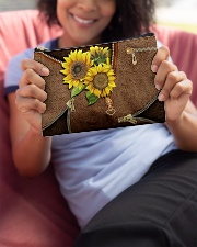 Sunflower pouch Accessory Pouch - Standard aos-accessory-pouch-8-5x6-lifestyle-front-06