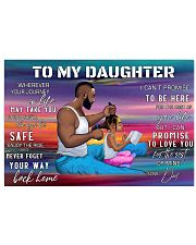 To my daughter 17x11 Poster front