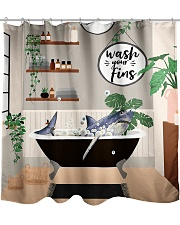 Wash your fins Shower Curtain front