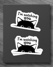 I'm watching you Sticker - 4 pack (Horizontal) aos-sticker-4-pack-horizontal-lifestyle-front-10
