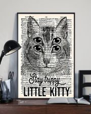 Stay trippy little kitty 11x17 Poster lifestyle-poster-2
