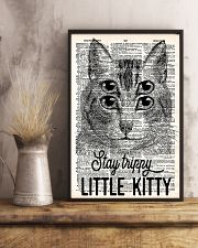 Stay trippy little kitty 11x17 Poster lifestyle-poster-3