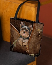 Cute Yorkshire Terrier  All-over Tote aos-all-over-tote-lifestyle-front-02