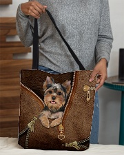 Cute Yorkshire Terrier  All-over Tote aos-all-over-tote-lifestyle-front-10
