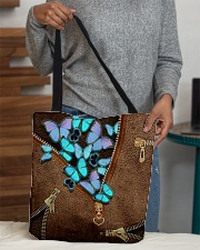 Blue butterflies All-over Tote aos-all-over-tote-lifestyle-front-10