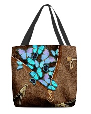 Blue butterflies All-over Tote back