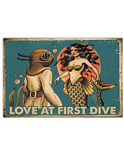 Love at first dive 17x11 Poster front