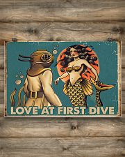 Love at first dive 17x11 Poster poster-landscape-17x11-lifestyle-14