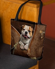 Cute Bulldog All-over Tote aos-all-over-tote-lifestyle-front-02