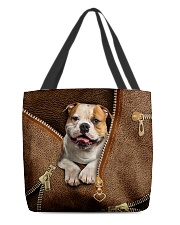 Cute Bulldog All-over Tote front