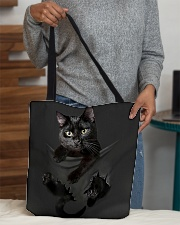 Black cat All-over Tote aos-all-over-tote-lifestyle-front-10