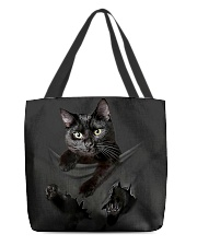 Black cat All-over Tote back