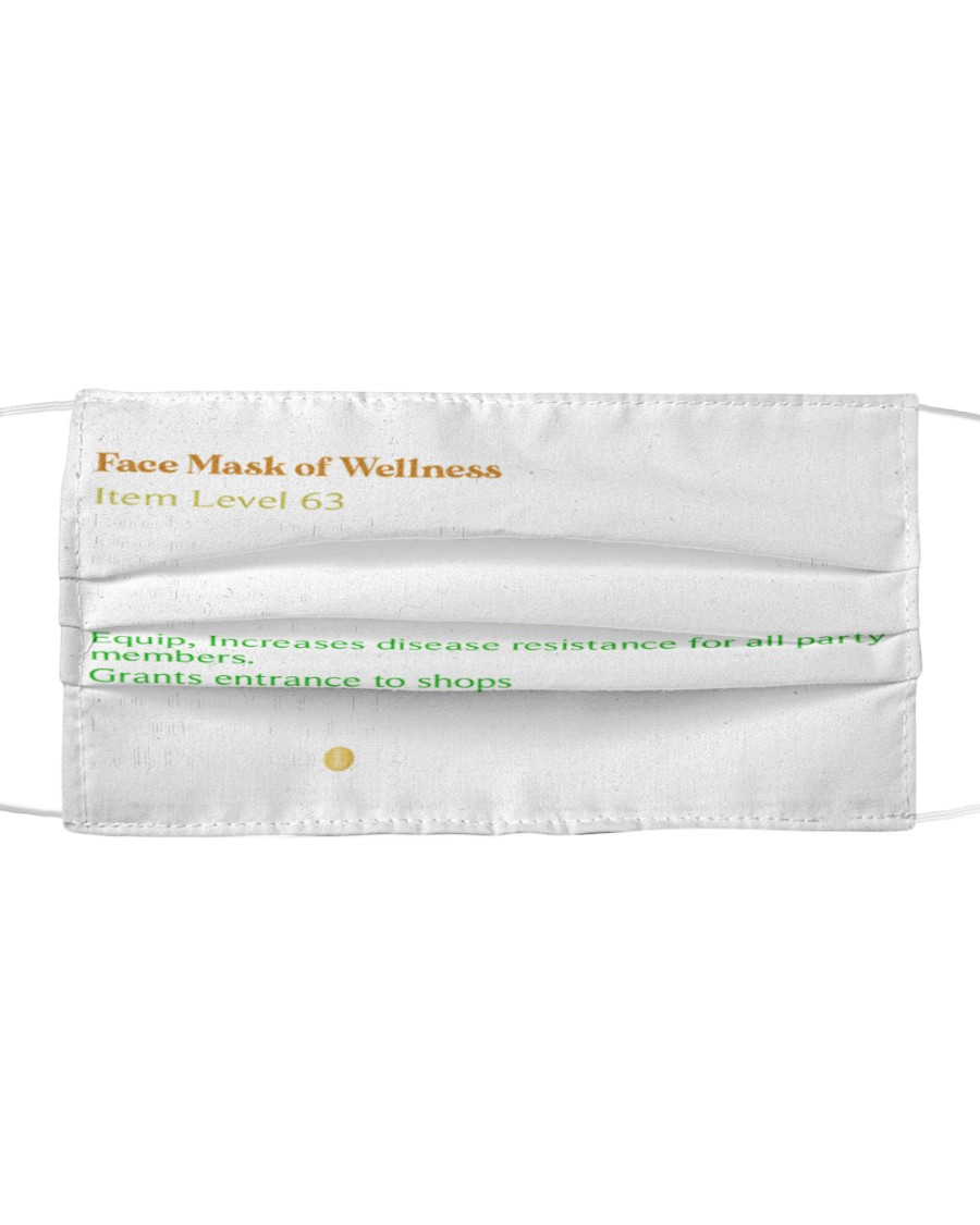 face mask of wellness face mask Cloth face mask