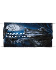 Wolf worn by force not by fear face mask Cloth face mask front