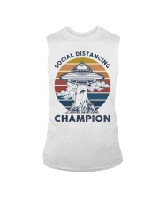 Vintage social distancing champion ufo shirt Sleeveless Tee tile