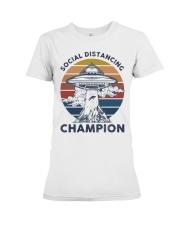 Vintage social distancing champion ufo shirt Premium Fit Ladies Tee tile