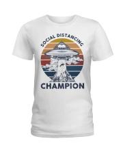 Vintage social distancing champion ufo shirt Ladies T-Shirt tile