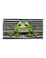 lady frog Cloth face mask front