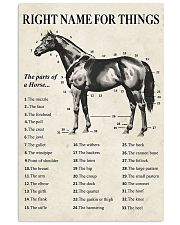 Right name for things horse poster 11x17 Poster front