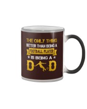 A Football player and a dad Color Changing Mug thumbnail