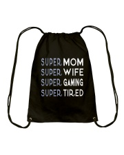 Super Gaming Mom Drawstring Bag thumbnail
