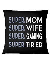 Super Gaming Mom Square Pillowcase thumbnail