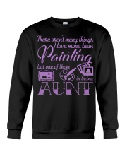 Painting Aunt Crewneck Sweatshirt tile