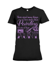 Painting Aunt Premium Fit Ladies Tee thumbnail