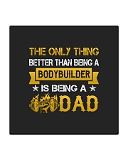 A bodybuilder and a dad Square Coaster thumbnail