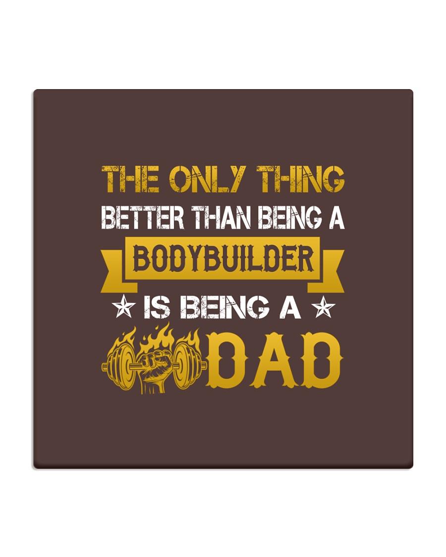 A bodybuilder and a dad Square Coaster