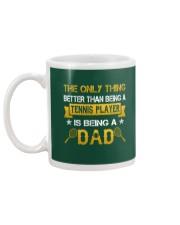 A tennis player and a dad Mug back