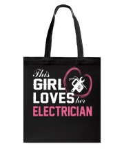 Loves Her Electrician Tote Bag thumbnail
