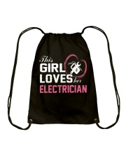 Loves Her Electrician Drawstring Bag thumbnail