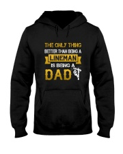 A Lineman and a Dad Hooded Sweatshirt thumbnail