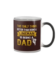 A Lineman and a Dad Color Changing Mug thumbnail