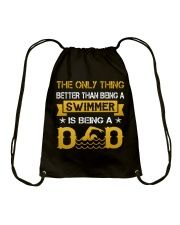 A swimmer and dad Drawstring Bag front
